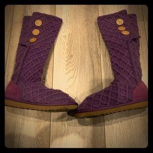 UGG Australia classic boots purple
